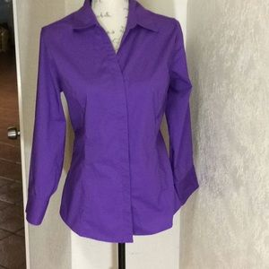 Tops - Lee RiDERS  purple top cotton polyester